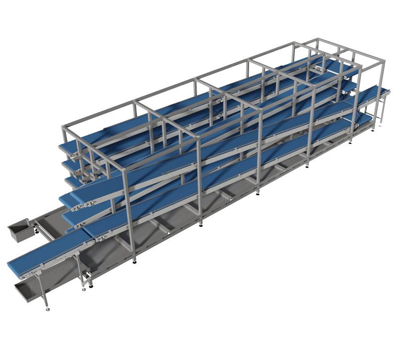 Machinebouw ontwerp voor verrijdbare transportbanden